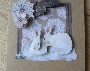 Winter rabbit card