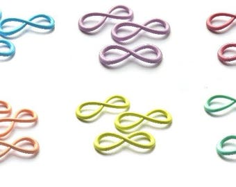 31x13mm colored infinity connectors charms