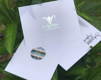 Custom Foil Logo Note Card Set | Custom Stationary Set
