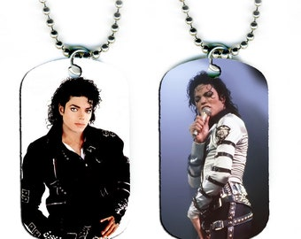 DOG TAG NECKLACE - Michael Jackson #1 King of Pop Music Star Singer