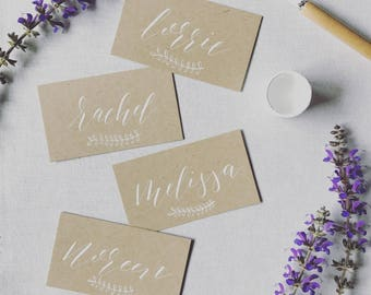 Kraft Flatlay Place Cards