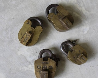 Vintage Brass Padlocks