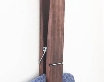 Rustic Jumbo Clothespin, Rustic Extra Large Clothespin, Towel Holder, Photo Holder Rustic Decorative Clothespin, Rustic Supe Huge Clothespin