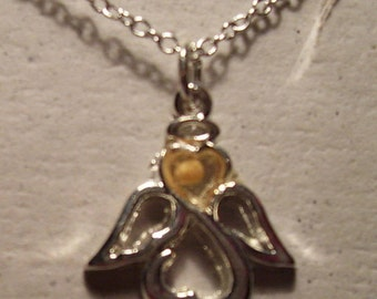 Angel  Faith of a Mustard Seed Charm Necklace with SS Chain
