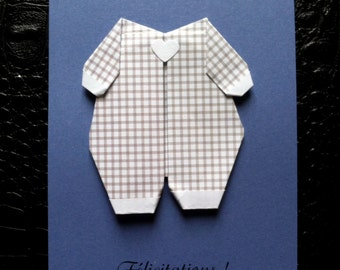 Card origami baby