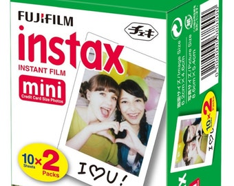 Fuji instax mini film color   Fujifilm instax film   20 Sheets Double Pack    Fuji Polariod film   Colour Instant Film