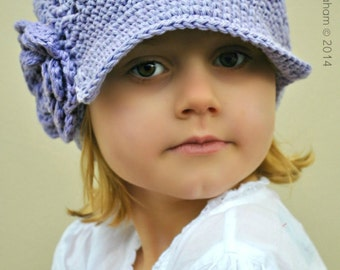 Newsboy Hat Pattern in 7 Sizes No.408 Digital ePattern for Baby Toddler Kid Teen English