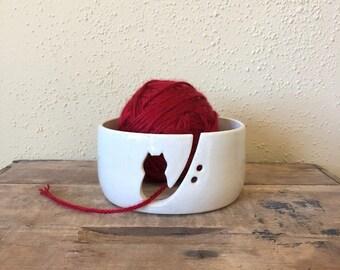 Kitty Yarn Bowl - Cat Yarn Bowl