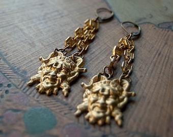 Great God Pan Earrings / God of the Forest / Horned God Earrings