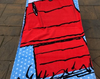 Oversized Peanuts SNOOPY Beach Towel - Personalized
