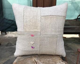 Hemp kilim Pillow,50x50cm,20x20inch,Kilim Pillow Cover,Cushion Cover,Pillow,White Pillow Cover,Naturel Soft Pillow