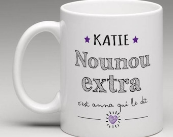 Personalized for an extra nanny gift mug