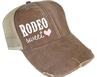 Rodeo Sweetheart Garment Washed Adult Hat