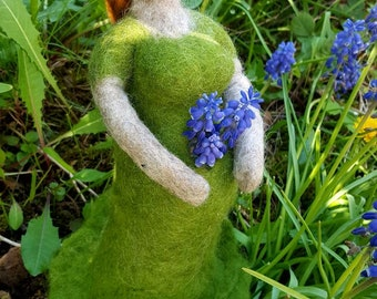 "Thick lady ""Ylva"" felted handmade"