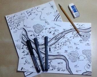 Custom fantasy map of your city or region