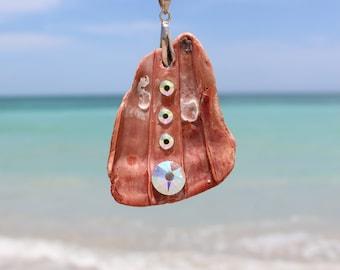 Natural  Swarovski Cyrstal Sea Shell Necklace