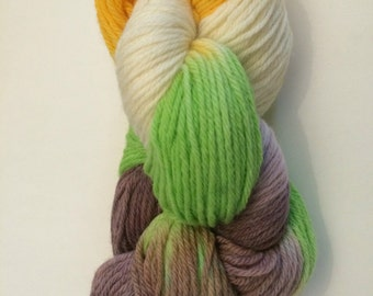 Yarn Hand Painted Worsted Weight Wool