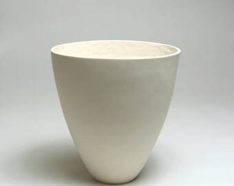 SALE - Porcelain Vessel with Textured Interior