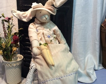 Handmade counrty Bunny Rabbit