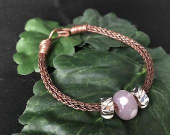 Antique Copper Pandora Style Bracelet, Gift For Her
