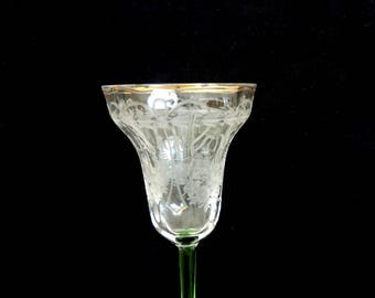 Fine Antique Crystal Etched Stemware Cordial
