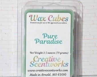 Pure Paradise Scented Wax Melts, Wax Cubes, Wax Tart, Wickless Candle, Melting Wax, Wax Melt, Tropical, Scent Bar, Scent Cube, Wax Bar