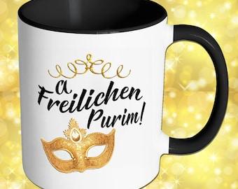 A Freilichen Purim - Happy Purim -  Purim Mug - Yiddish -Shalach Manos - Mishloach Manot