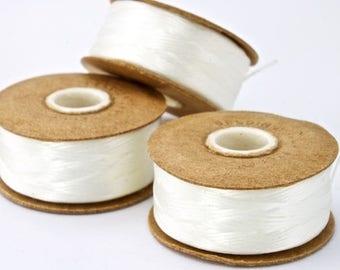 Size D White Nymo Thread #CDK004