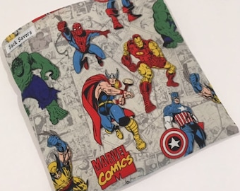 Reusable Sandwich And Or Snack Bag Super Hero Spiderman Hulk Sandwich Snack Bag