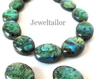 10-40 Premium Quality Paua (Abalone) Shell Pendant Beads 16mm Double Sided With A High Sheen Finish