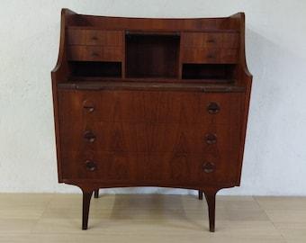 Vintage Danish Modern Teak Secretary Desk / Vanity - Free NYC Delivery!