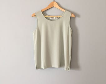 sea green slouch top | layering tank top