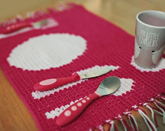 Instant Download, Place Setting Mat Crochet PATTERN