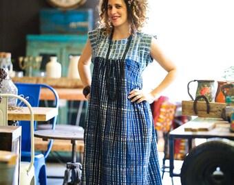 Boho Dress, Maxi Dress, Cotton Dress, Bohemian Clothing, Summer Dress, Bohemian Dress, Hippie Dress, Tribal Dress, Indigo Dress