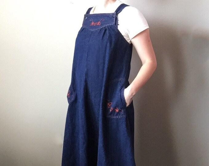 vintage denim jumper