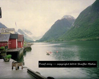 Beautiful image of Balestrand, Norway