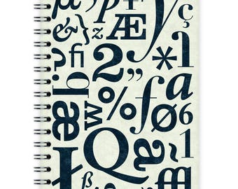 Notebook A6 - Typo Pattern