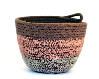 Small coiled rope bowl