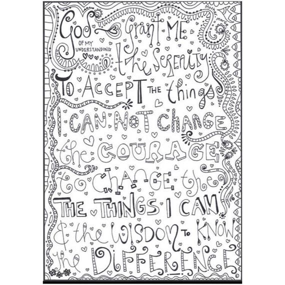 Coloring Pages For Recovery : Coloring pages on prayer page free printable and serenity
