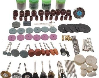 """Lot of 147 PCS Grinding Carving Polishing Drill Bit Kit Set 1/8"""" Mini Drilling Rotary Tool Bit Set Kit"""