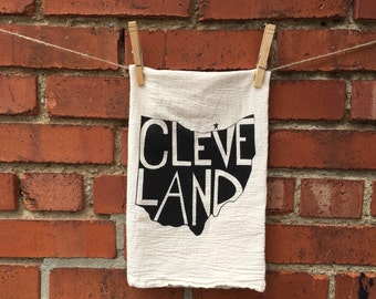 Flour Sack Towel, Dish Towel, Tea Towel Cleveland, Ohio