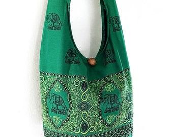 Women bag Handbags Cotton bag Elephant bag Hippie Hobo Boho bag Shoulder bag Sling bag Messenger bag Tote bag Crossbody Purse Grass Green