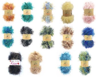 Eyelash Yarn - Variety of Colorful Yarns
