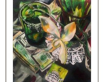 Impressionist still life paintings SET