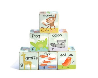 Alphabet Blocks & Numbers ABC Wooden Blocks