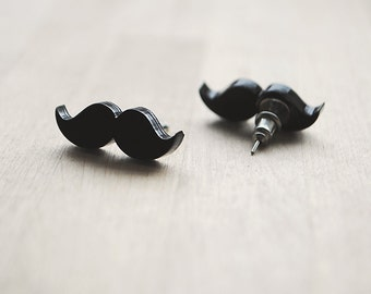 Movember Moustache Earrings