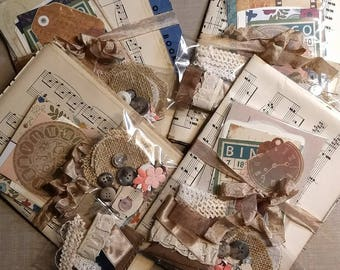 Paper Pack junk journal scrapbook vintage lace