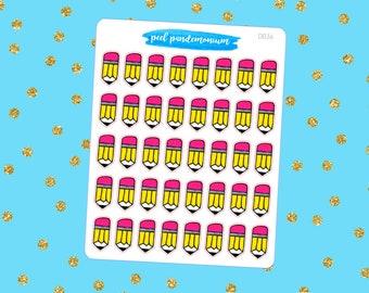 Pencil Doodle Planner Stickers (D036)
