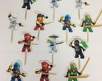 NINJAGO Cupcake Toppers / Die Cuts / Birthday Party / Decorations / Party Supplies / Decor