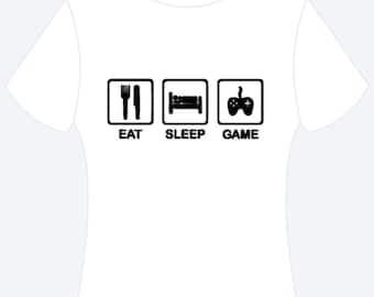 Eat Sleep Game Shirt, Personalized Shirt, Custom Shirt